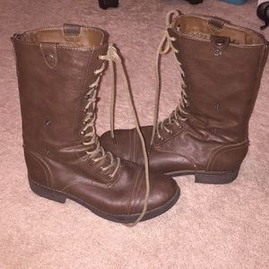 Madden Girl lace up combat boots